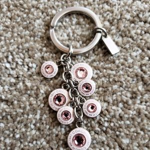 Beautiful Authentic Coach Cyrstal Keychain